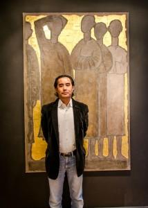 Ming Tong dans sa galerie à Lille